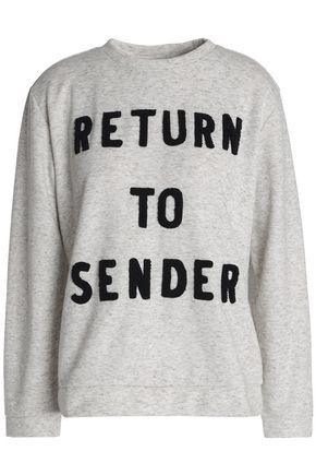 ZOE KARSSEN Appliquéd jersey sweatshirt