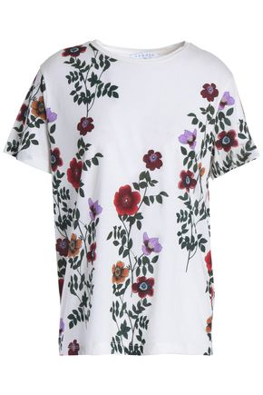 SANDRO Janesh floral-print cotton-jersey T-shirt