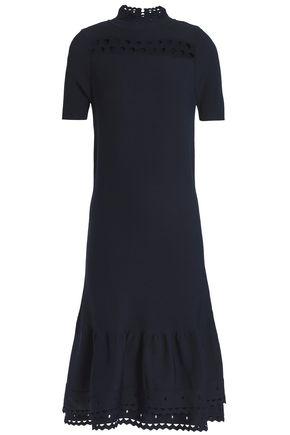 SANDRO Amity cutout stretch-knit midi dress