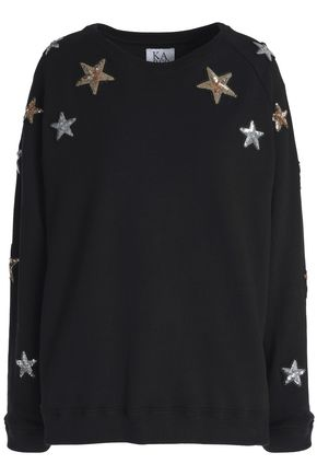 ZOE KARSSEN Embellished cotton sweatshirt