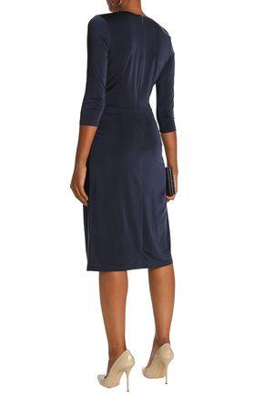 RAOUL Twist-front stretch-jersey dress