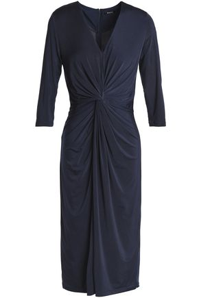 RAOUL Twist-front stretch-jersey dress