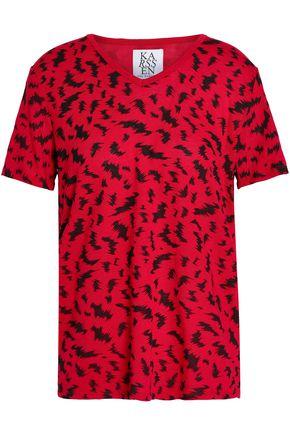 ZOE KARSSEN Printed cotton-blend jersey T-shirt