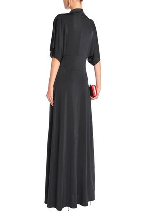 RAOUL Issa draped stretch-jersey maxi dress