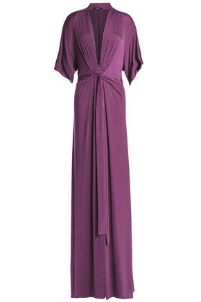 Issa Draped Stretch Jersey Maxi Dress by Raoul
