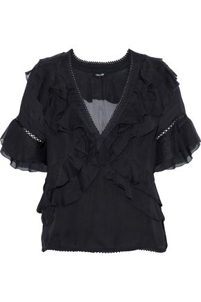 LOVE SAM Ruffled chiffon blouse