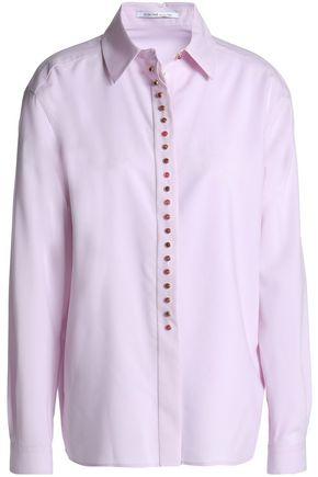 AGNONA Button-embellished wool shirt