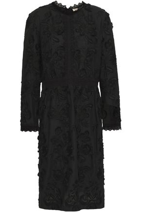 VANESSA BRUNO Lace-trimmed embroidered cotton dress