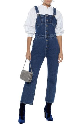 M.I.H JEANS Tribe cropped denim overalls