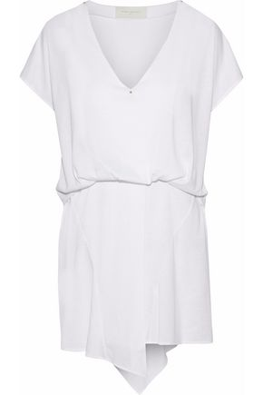 ESTEBAN CORTAZAR Asymmetric stretch-jersey mini dress