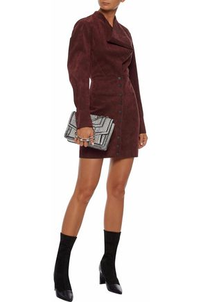 STELLA McCARTNEY Faux suede mini dress