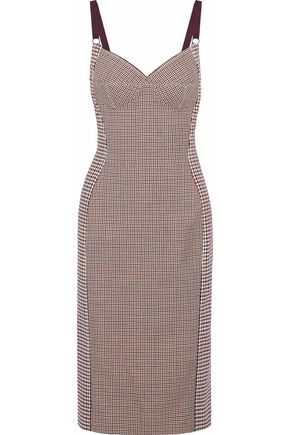 STELLA McCARTNEY Paneled checked woven dress