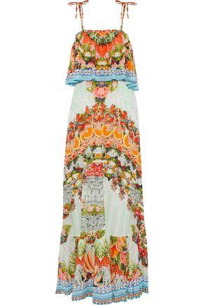 CAMILLA Slice Of Paradise crystal-embellished printed gauze maxi dress