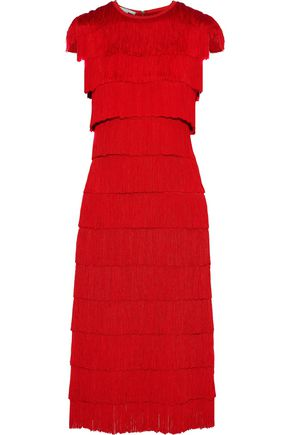 STELLA McCARTNEY Fringed crepe dress