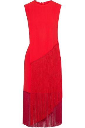STELLA McCARTNEY Fringed crepe midi dress