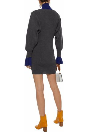 STELLA McCARTNEY Ribbed wool mini dress
