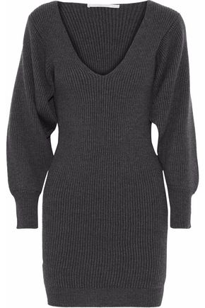 STELLA McCARTNEY Ribbed wool mini dress
