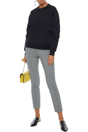 STELLA McCARTNEY Fringed French cotton-blend terry sweatshirt