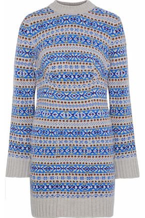 STELLA McCARTNEY Wool-jacquard mini dress