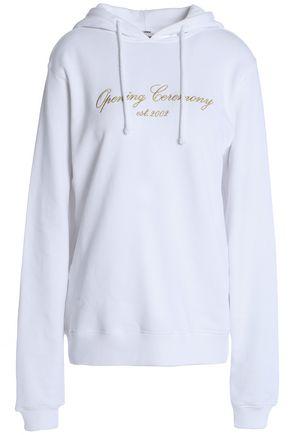 OPENING CEREMONY メタリック 刺繍入り フレンチコットンパイル地 スウェットシャツ