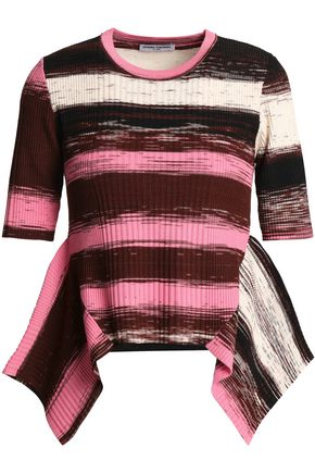 OPENING CEREMONY Striped stretch-knit top