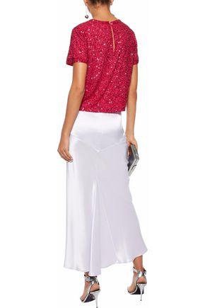 ALICE + OLIVIA 装飾付き シフォン Tシャツ