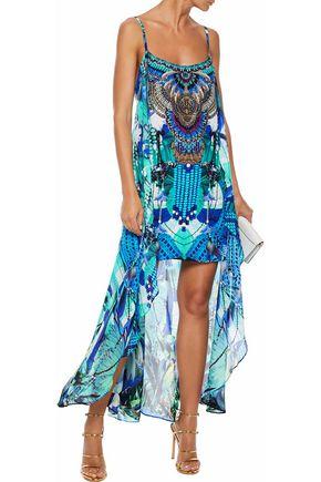 b6e204218b5 CAMILLA Amazon embellished printed silk crepe de chine mini dress