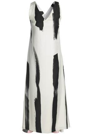 CHRISTOPHER ESBER Printed silk-twill midi dress