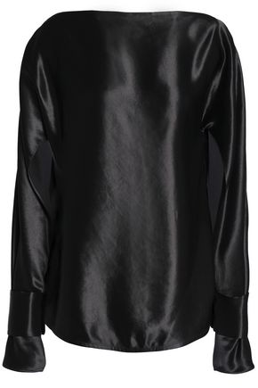 CHRISTOPHER ESBER Satin-crepe blouse
