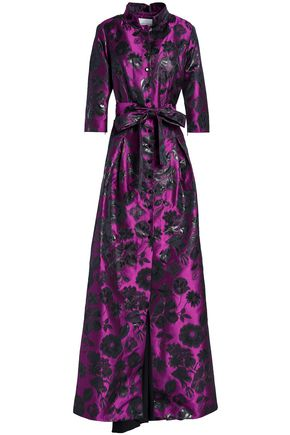 CAROLINA HERRERA Floral-print jacquard gown