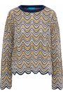 M.I.H JEANS Arlo scalloped crochet-knit merino wool-blend sweater