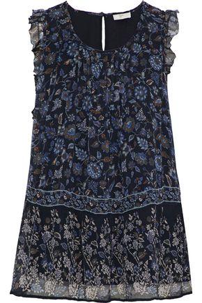 JOIE Celadine B ruffle-trimmed printed silk-georgette blouse
