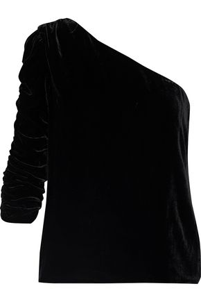 81f9f711f2a323 JOIE Wayman one-shoulder velvet top ...