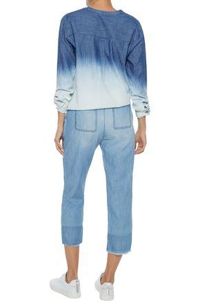 SOFT JOIE Normana dégradé cotton-blend chambray shirt