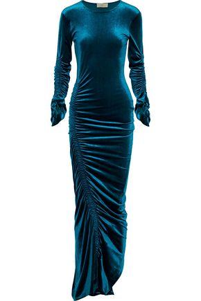 PREEN by THORNTON BREGAZZI Philomena ruched velvet gown