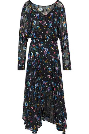 PREEN by THORNTON BREGAZZI Norma printed silk-blend devoré-velvet midi dress