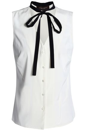 CAROLINA HERRERA Stretch-silk top
