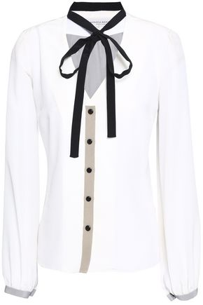 CAROLINA HERRERA Silk crepe de chine blouse