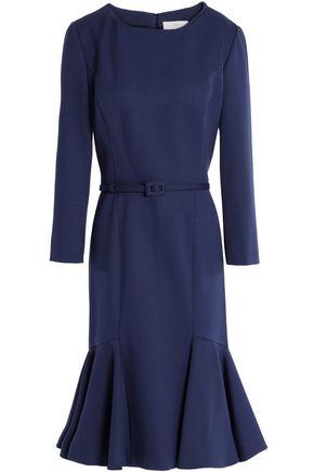CAROLINA HERRERA Fluted stretch-wool woven dress