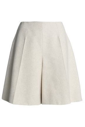 DELPOZO Linen and cotton-blend canvas shorts