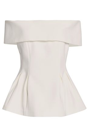 RACHEL GILBERT Juno off-the-shoulder stretch-jersey peplum top