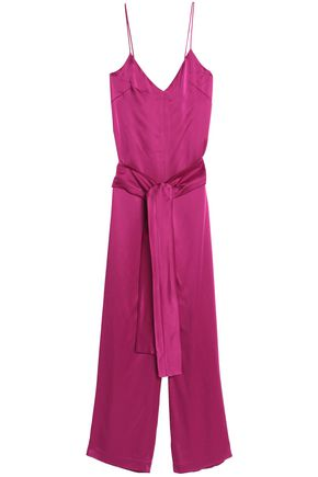 GALVAN  London Belted satin jumpsuit