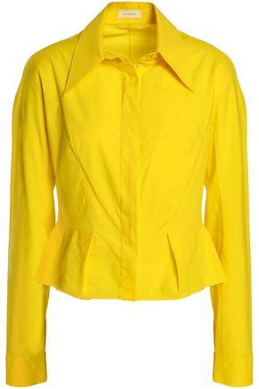 DELPOZO Cotton-poplin peplum shirt