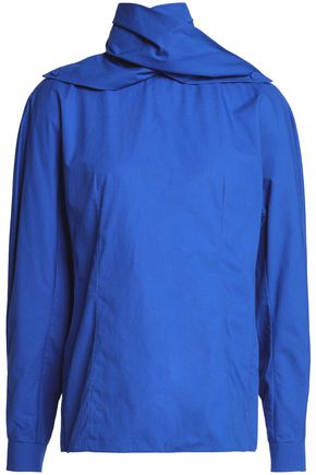 DELPOZO Cotton-poplin blouse
