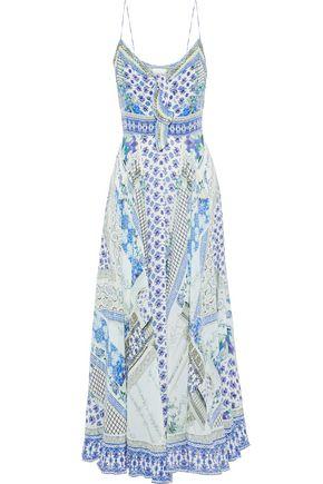 CAMILLA Day Dreamer embellished printed silk crepe de chine maxi dress