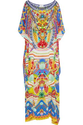 CAMILLA Spell Bound crystal-embellished printed silk maxi dress