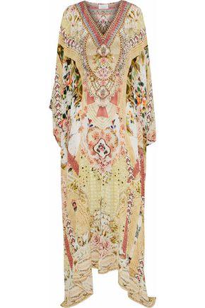 CAMILLA Close To My Heart crystal-embellished printed silk maxi dress
