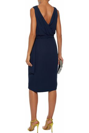 RAOUL Celina wrap-effect ruched silk-crepe gown