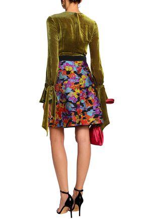MARY KATRANTZOU Devoré-velvet and fil coupé mini dress