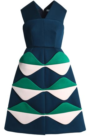 DELPOZO Color-block scuba dress